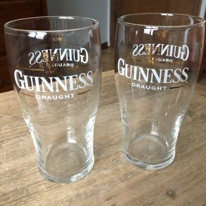 Set of 2 Guinness Beer Glasses (NWOT)